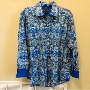 Robert Graham Classic Fit Blue Paisley Print Shirt